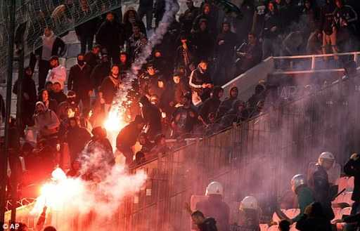 Greek fans told the match Cup Match