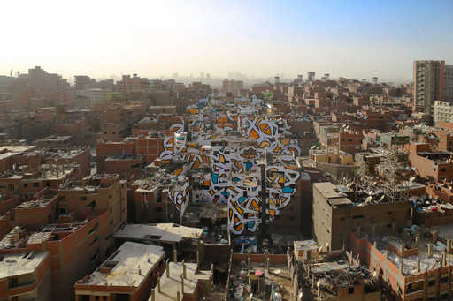 Cairo created an impressive Mural, covering 50 buildings