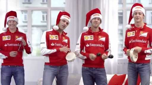 Ferrari team congratulated the fans with the upcoming New Year holidays